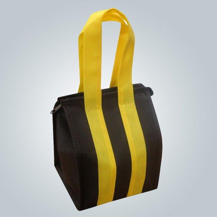 Medida Eco promocional largo mango no bolso tejido PP con cremallera