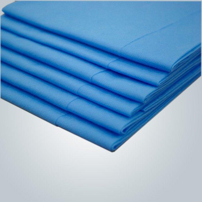 Fabriqués à peu de frais hygiénique Massga drap pour Spa Massage à l'aide de la couleur bleue en usine