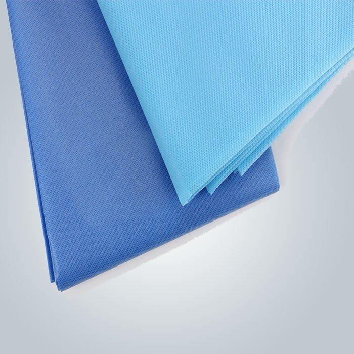 Colore blu pulita medica 3 PLY lenzuola usa e getta Non tessuta per una volta usato