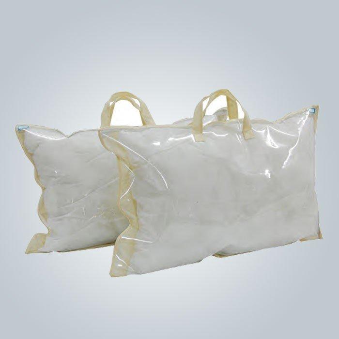 Cubierta de almohada no tejida reutilizable respetuosa del medio ambiente 70gsm con el logotipo