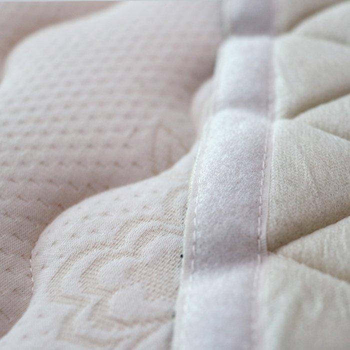 Cubierta de colchón de cuna equipada cómodo y suave, Protector tamaño grande con cremallera