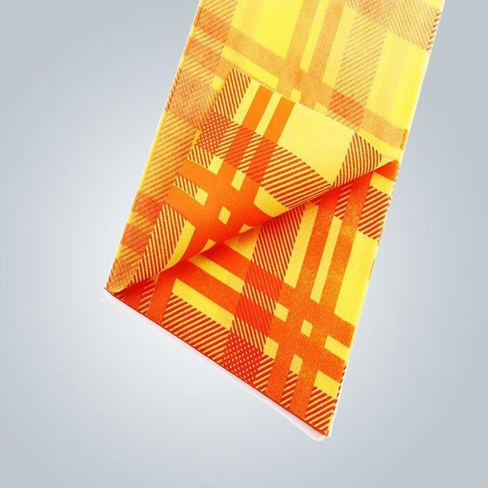 Suposición 38-75 gsm peso impresión colorida plaza no tejida tnt cubierta de mesa exportada a italia
