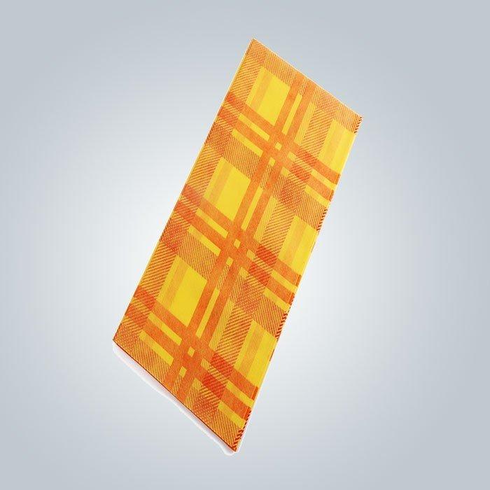 الطباعة مربع مقاومة للحرارة الملونة دايد 45gsm غير المنسوجة مفرش تستخدم ل الطعام