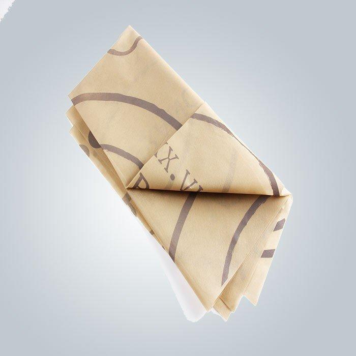 Nappe non tissée colorée résistante à la chaleur 45gsm de jour carrée utilisée pour diner
