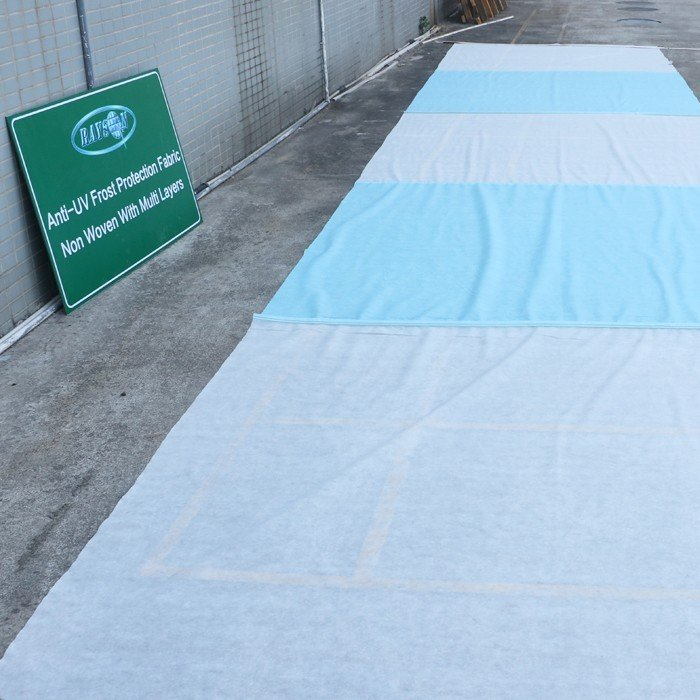 40 ग्राम सफेद रंग 1.5% यूवी Stabillized 100% पीपी कृषि Spunbond Nonwoven कपड़े