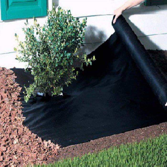 Tapis non tissé d'agriculture de tissu de Permearble pp noir d'air / tapis de protection au sol