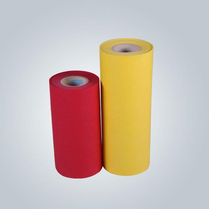 80 غرام أحمر أخضر اللون الأزرق غير المنسوجة أكياس التسوق مع شعار المطبوعة