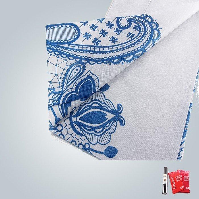 Pre-cutó el mantel no tejido impreso limpio y suave de seis colores en el empaquetado doblado