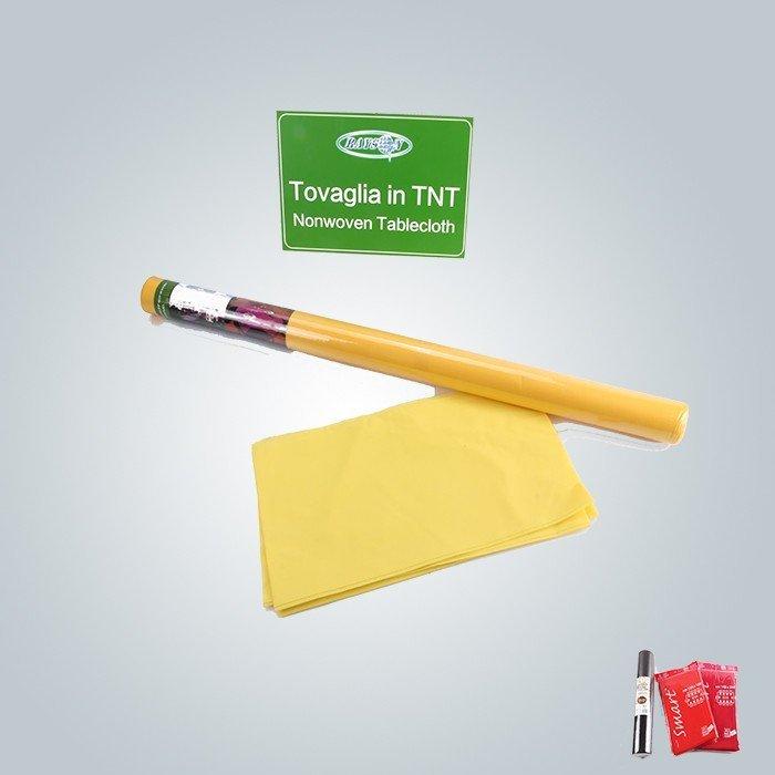 Grüne gelbe rote nichtgewebte Tischdecke 45gsm zu Gewebe 50gsm Tnt 1.2mx10m