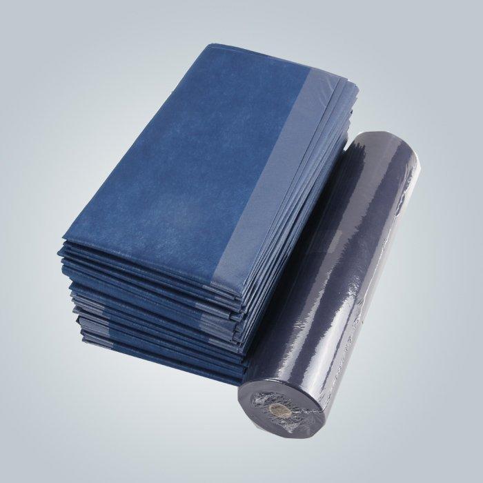 Lenzuolo non tessuta diposable di rotolo pretagliato antibatterico di larghezza di 80cm per l'ospedale