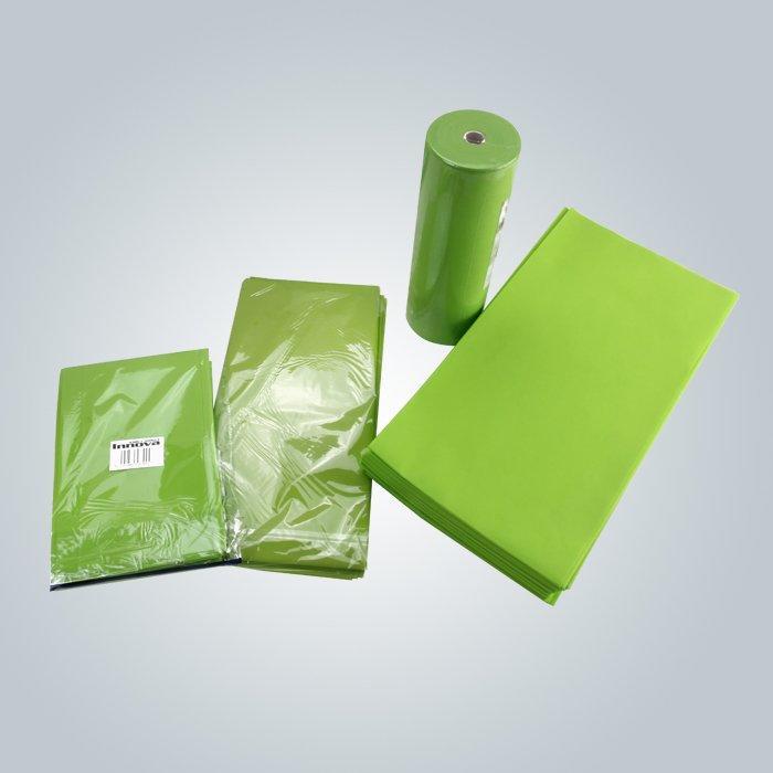 グリーンカラー100%ヴァージン不織布肌に衛生的なベッドシート