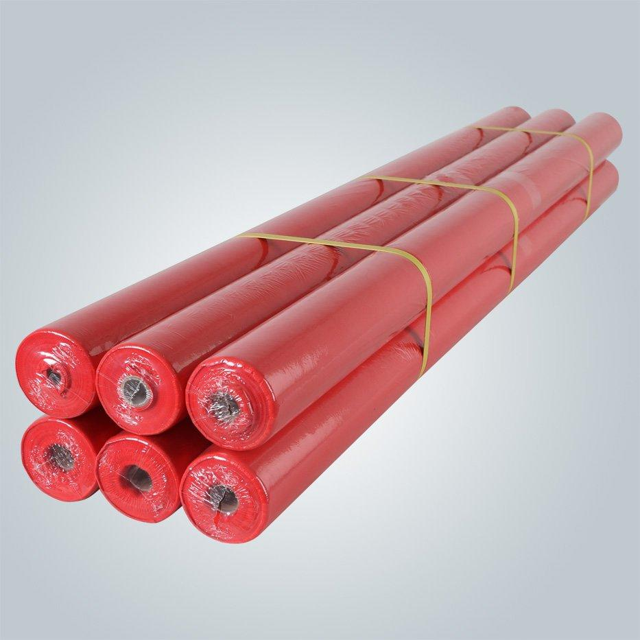 50gsm waterproof non woven tablecloth roll with PE film