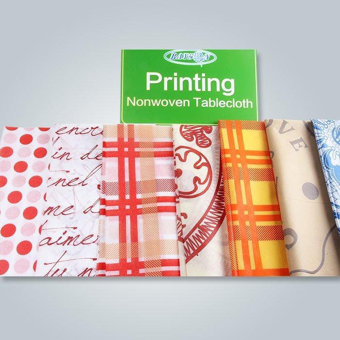 Wedding Table Linens Spunbond Tartan Printed Table Cloth