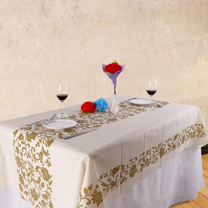 Vestiti da tavolo da sposa stampati in pvc super trasparente