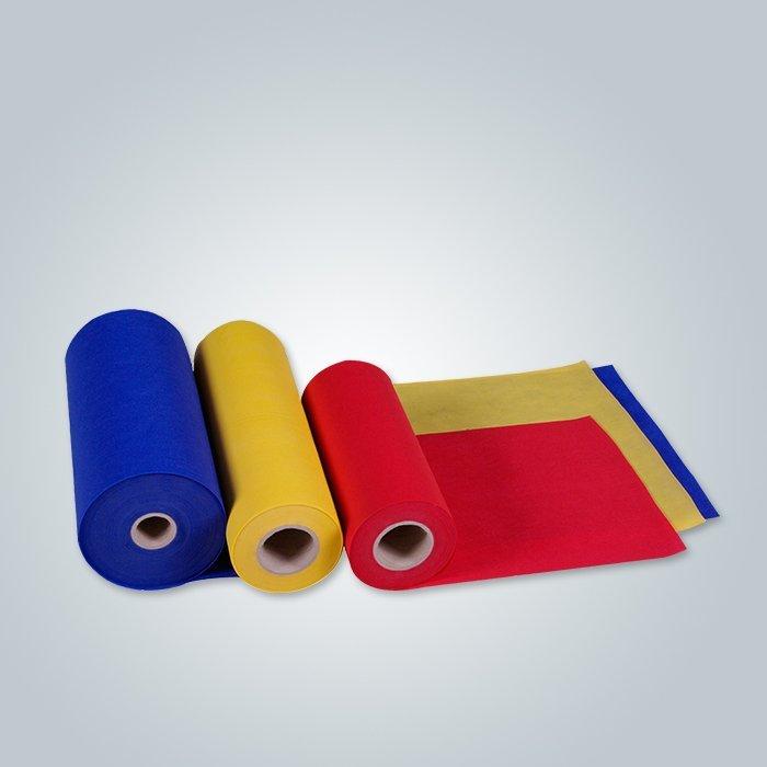 50 Non tissé doux hydrophobe de gsm Spunbond avec la couleur multi