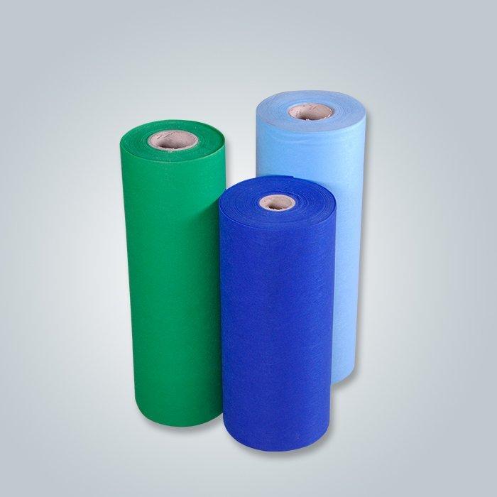 Tela colorida al por mayor de la tela 30-150GSM del spun-bond proveedor tela no tejida de los pp
