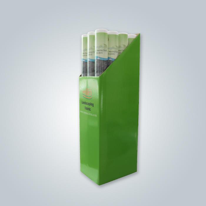 grüner Karton weißer Garten Unkrautkontrolle Vliesstoff