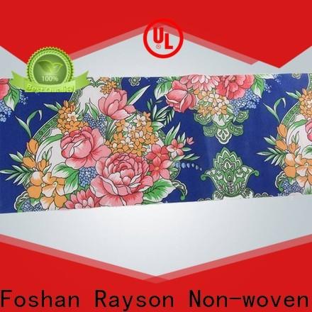 Rayons Vlies, Ruixin, Enviro bedruckte Vlies bedruckte Stoffrollen direkt zum Verkauf für Tisch