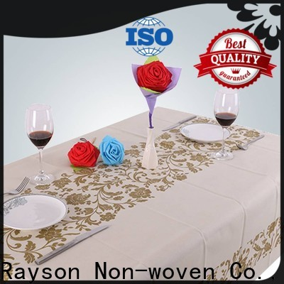 Rayons non tissés, ruixin, nappes jetables imprimées enviro en gros pour le restaurant