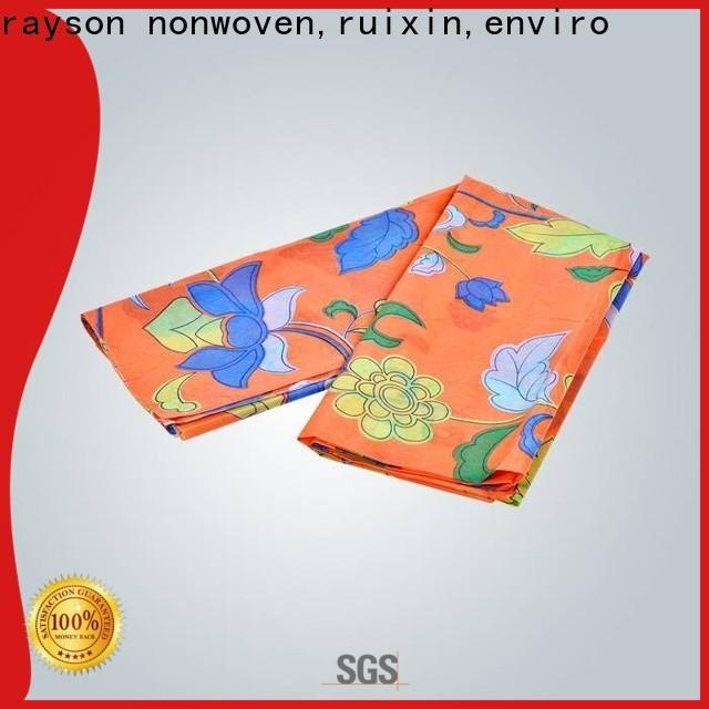 rayson nonwoven,ruixin,enviro professional spunlace nonwoven wipes design for gifts
