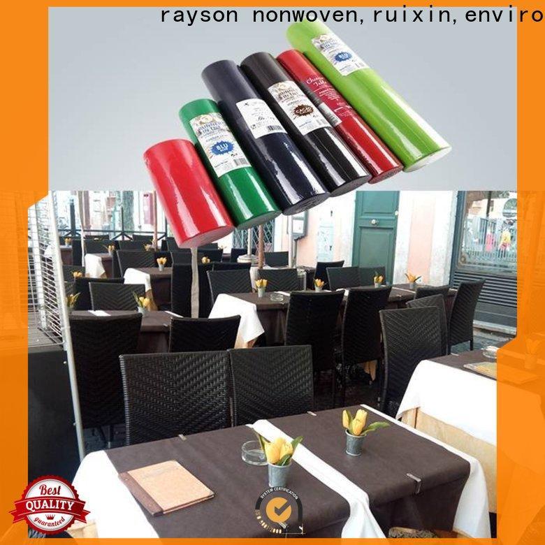 rayson محبوكة ، ruixin ، enviro 60gsm نسيج مفرش المائدة مقاومة للماء بسعر جيد للملابس