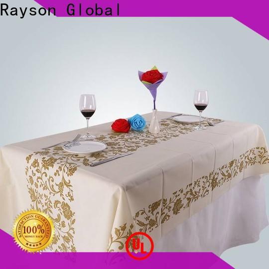 rayson nonwoven, ruixin, enviro spunbonded tipi di materiale per tovaglie per feste