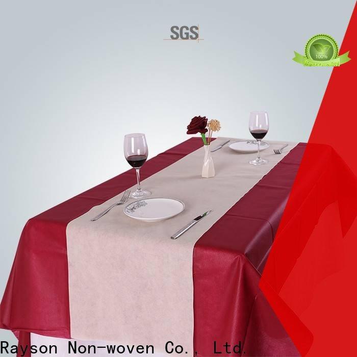 rayson محبوكة ، ruixin ، مفارش المائدة eneviro للطباعة المملكة المتحدة مخصصة للفندق