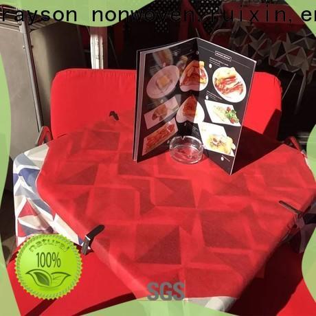 rayson محبوكة ، ruixin ، enviro باركيه مخصص أغطية طاولات مطبوعة تصميم مفرش المائدة