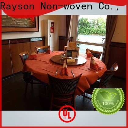 rayson nonwoven,ruixin,enviro quality cheap round tablecloths supplier for party