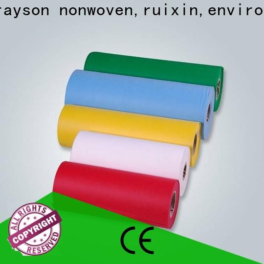 rayson nonwoven, ruixin, enviro 70gsm spunlace diseño de tela no tejida para regalos