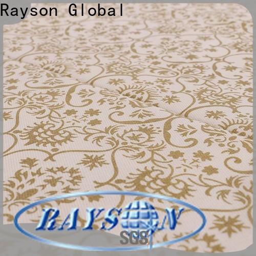 rayson محبوكة ، ruixin ، enviro sgs spunbond الشركة المصنعة للأقمشة غير المنسوجة بسعر جيد لمفارش المائدة