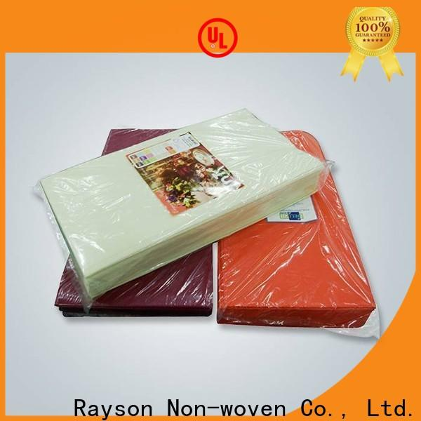 Rayoson nonwoven, ruixin, enviro examen de lino servilletas serie para interior