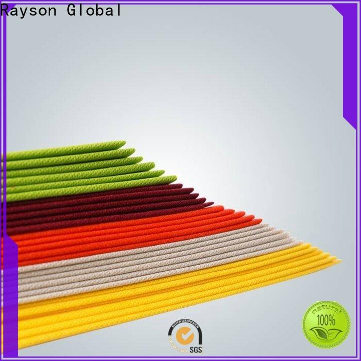 rayson nonwoven، ruixin، enviro مصنع مفرش مائدة بلاستيك مقطوع مسبقًا لحفلات الزفاف