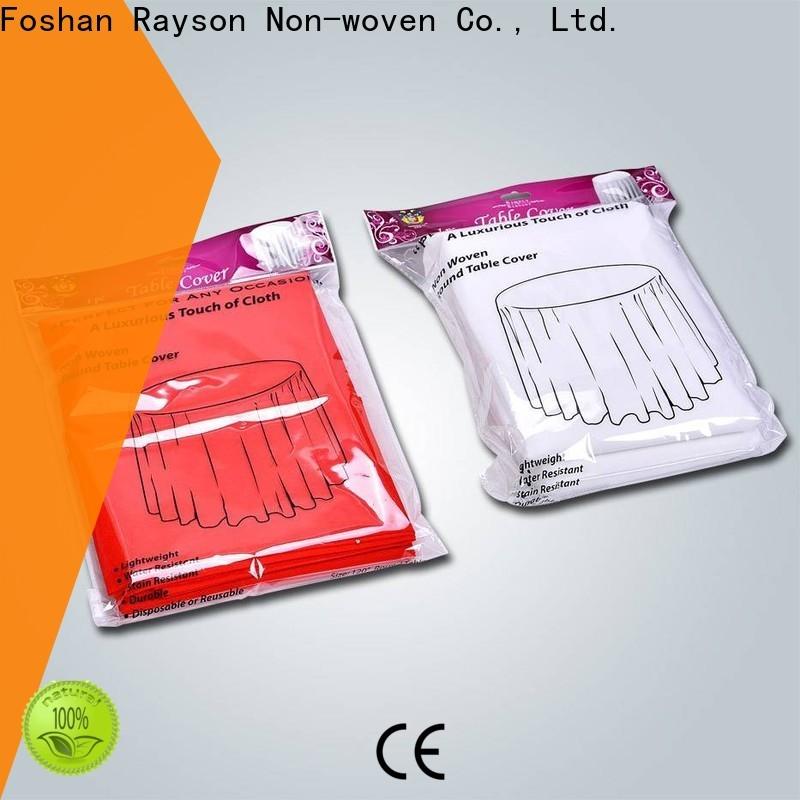 rayson nonwoven، ruixin، enviro مفارش مائدة مستديرة واحدة من الصين للتغطية