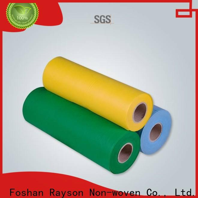 rayson nonwoven، ruixin، enviro design spunlace أقمشة غير منسوجة مصنعين بيع مباشرة للطاولة