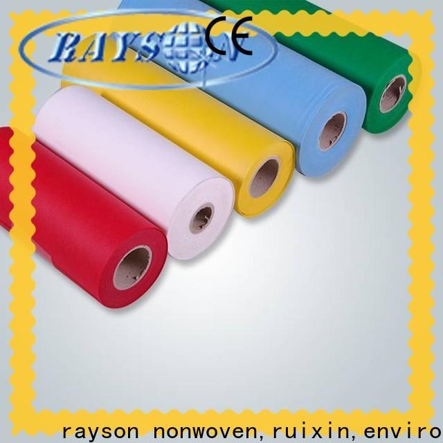 Rayonson nonwoven, ruixin, enviro fabricant de tissu non tissé spunlace crédible pour hôtel