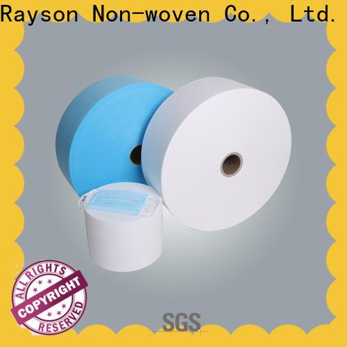 rayson nonwoven، ruixin، enviro pp spunbond مصنع غير منسوج لقناع الوجه حلقة الأذن 3 رقائق