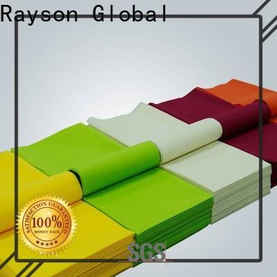 rayson nonwoven, ruixin, enviro mantel de lino blanco enlazado al por mayor para mantel