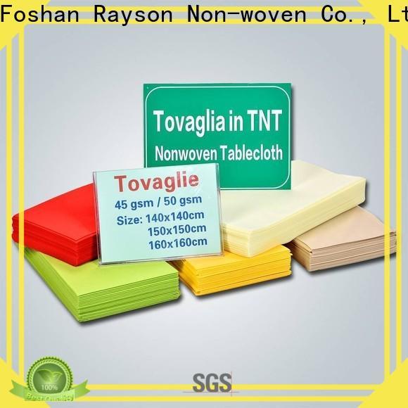 rayson nonwoven, ruixin, enviro tejido de polipropileno desechable venta directa para mantel