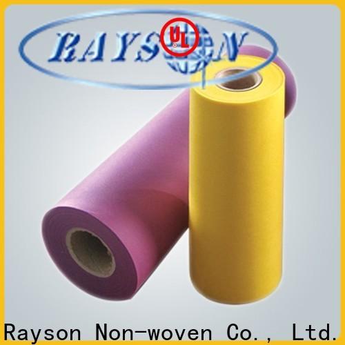 rayson nonwoven، ruixin، enviro بيع أقمشة غير منسوجة بيضاء بالكامل للداخلية
