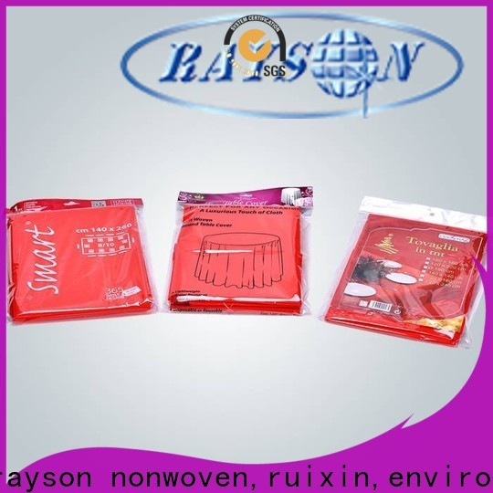 rayson nonwoven,ruixin,enviro pp cheap round tablecloths customized for party