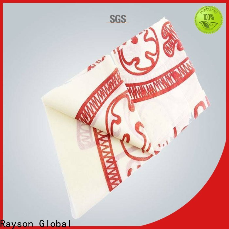 rayson nonwoven,ruixin,enviro spunbonded types of table cloth material manufacturer for tablecloth