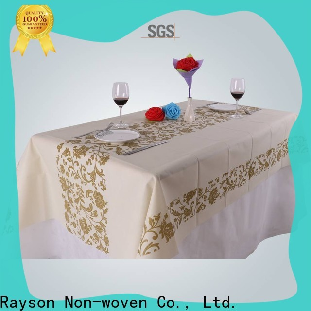 rayson nonwoven,ruixin,enviro fancy custom printed tablecloth with good price for tablecloth