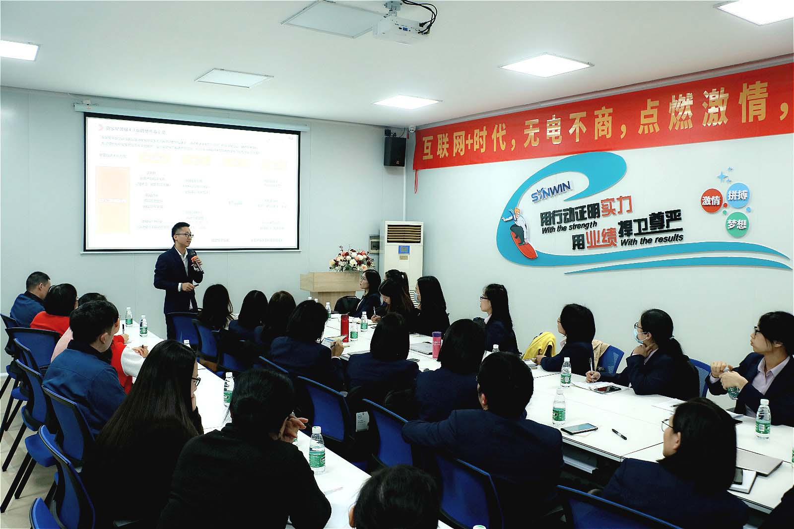 news-rayson nonwoven,ruixin,enviro-Rayson non woven company held sales incentive meeting-img