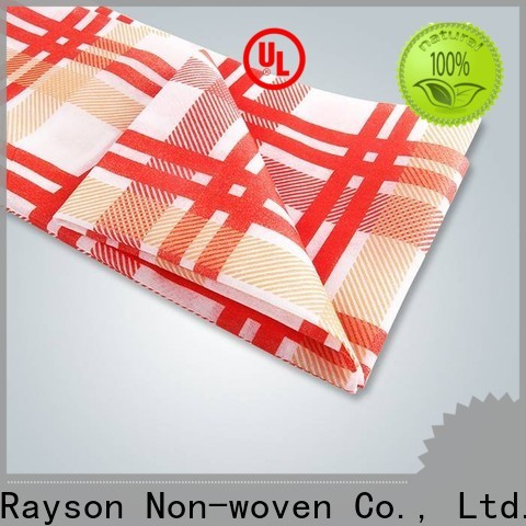 rayson nonwoven for printing custom printed table covers with good price for home