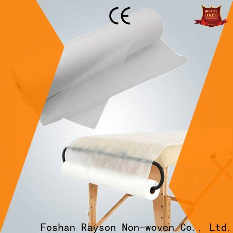venta al por mayor de materia textil no tejida hosptial no tejida de rayson para la sábana
