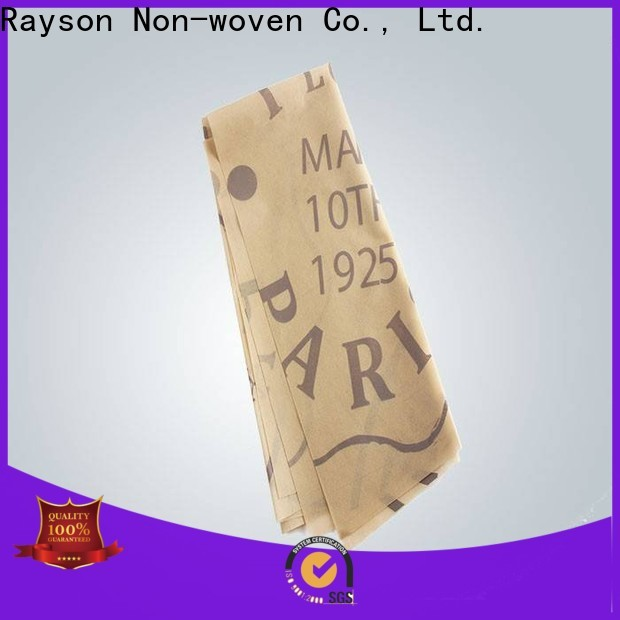 rayson nonwoven spunbonded custom printed tablecloth manufacturer for home