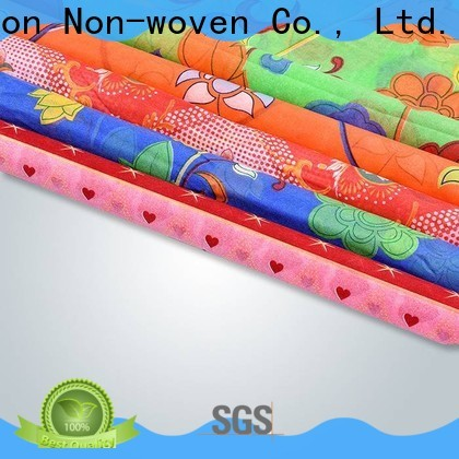 Bulk purchase cost of non woven fabric roll plaid in bulk for tablecloth
