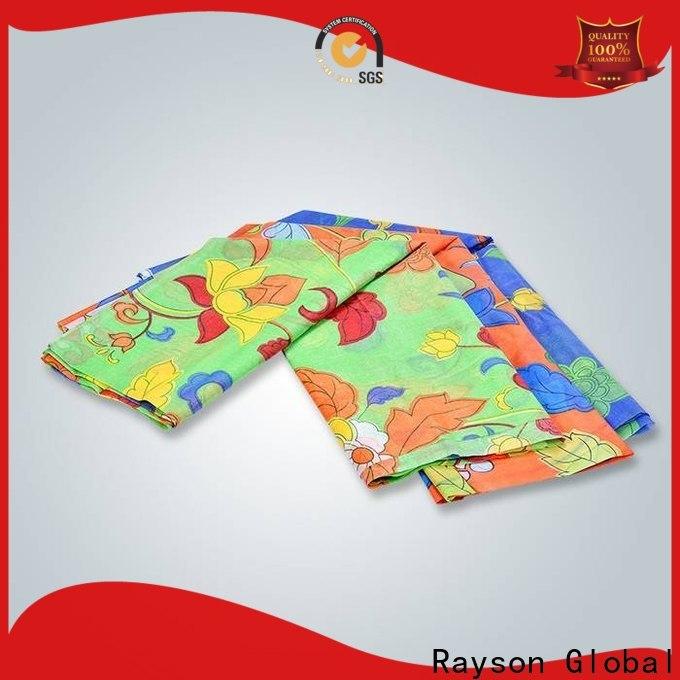 rayson غير منسوجة طباعة رقمية مخصصة على مصنع أقمشة غير منسوجة للفراش