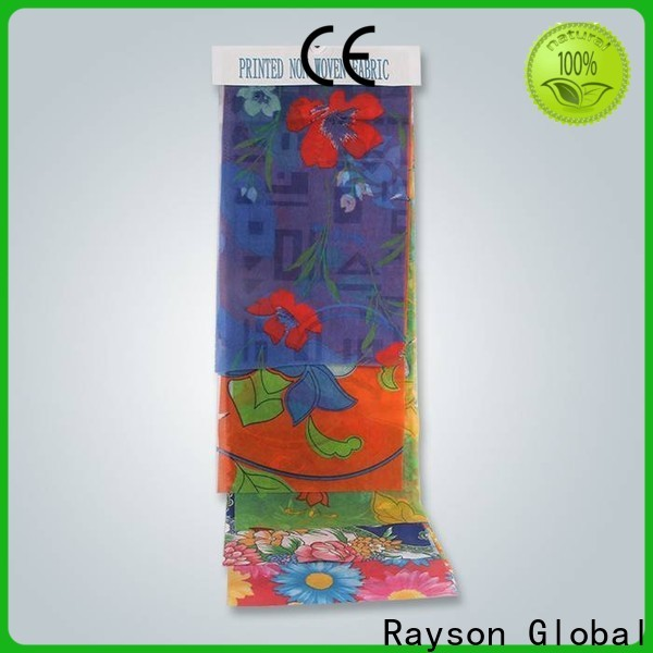 rayson محبوكة بالجملة شراء شركة المواد الخام غير المنسوجة النسيج للأغطية